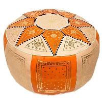 ORANGE MARRAKESH pouf