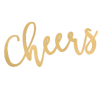 laser cut-out CHEERS