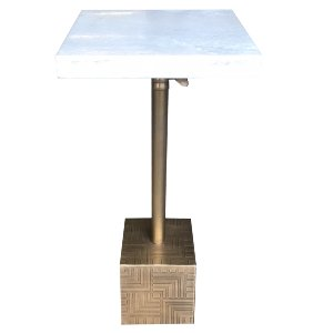 Marble & Brass Weight Side Table
