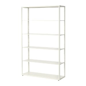 White Back Bar Shelf Unit
