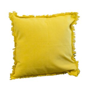 Yellow Fringe Pillow
