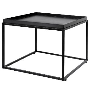 Black Cube Side Table