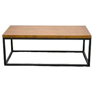 Black + Wood Coffee Table