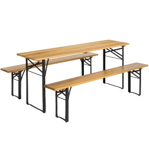 Biergarten Table + Bench Set