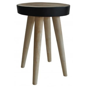 Woody Side Table/Stool Black