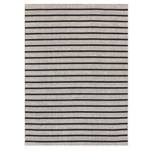 Black & Grey Striped Flatwoven