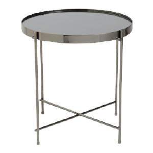 Mirrored Side Table - Black