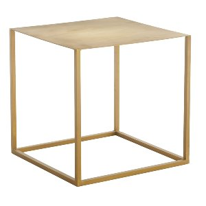Brass Cube Side Table