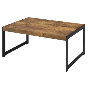 Black & Wood Coffee Table