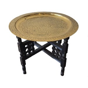 Brass Tray Coffee/Side Table