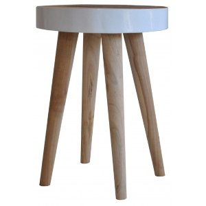 Woody Side Table/Stool White
