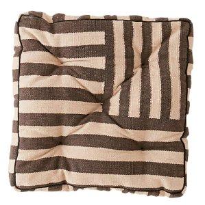 Brown Striped Floor Cushion