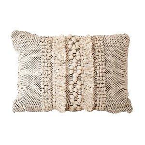 Pillow - Shag Lumbar - White
