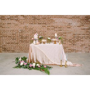 Champagne Sequin Rectangular Tablecloth