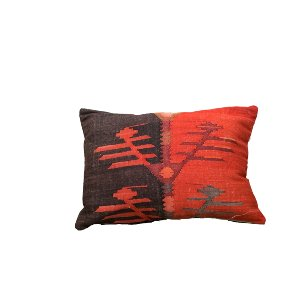 Red & Brown Aztec Pillow