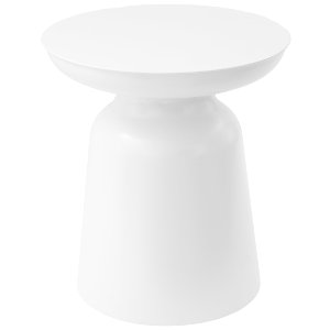 White Drum Side Table