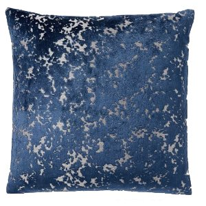 Navy Velvet Static Pillow