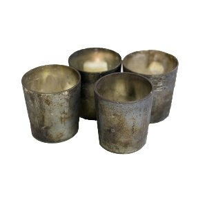 Antiqued Votive Candle Holders