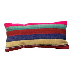 Multicolored Striped Lumbar Pillow
