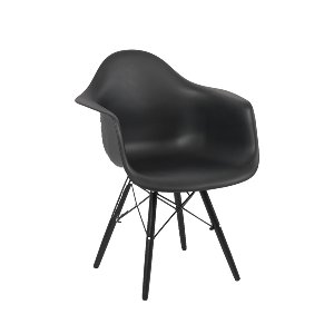 Eames Style Black Accent Chair
