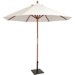 9 ft Market Umbrella Natural