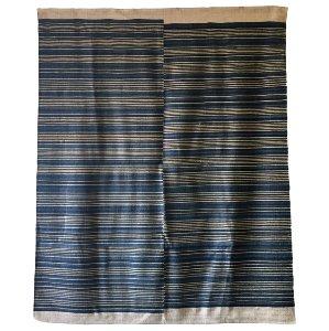 Indigo Stripe Sisal Rug