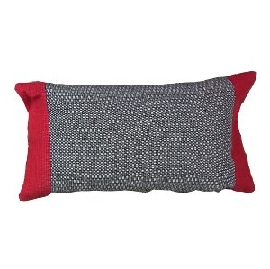 Black & Red Lumbar Pillow