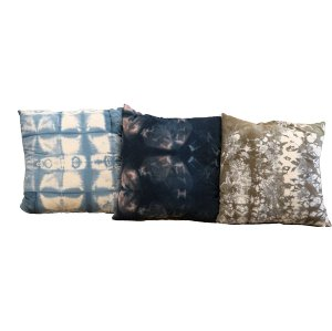 Blue Tie Dye Pillow