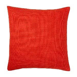 Red-Orange Linen Pillow