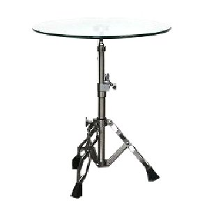 Glass Drum Kit Side Table