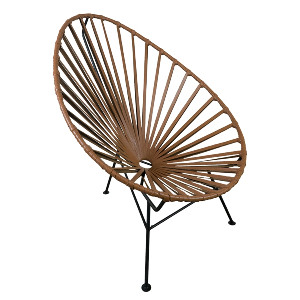 Acapulco Chair Brown Leather