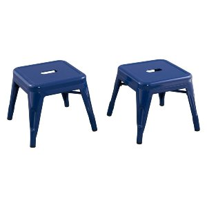 Blue Metal Stool
