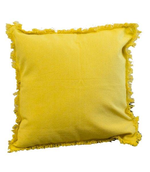 Yellow Fringe Pillow