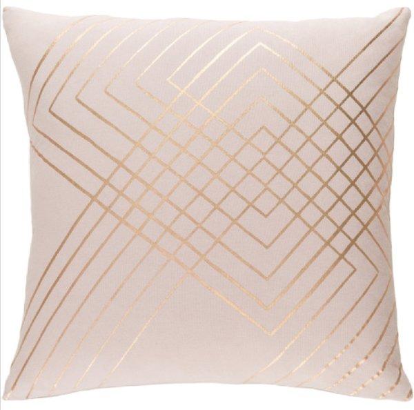 Pillow - Pink & Rose Gold Line