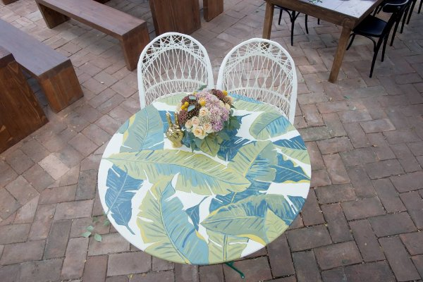 French 75 Table - Palm Leaf