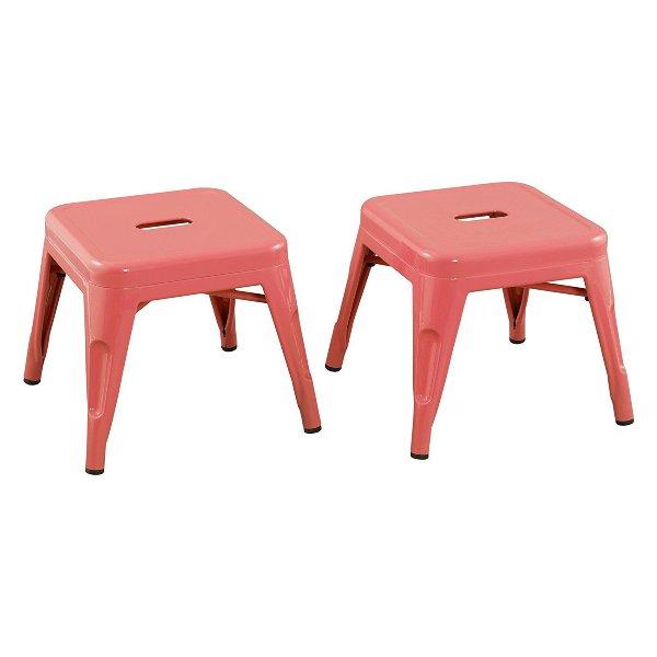 Pink Metal Stools