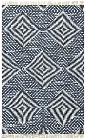 Blue Diamond Flatwoven Rug