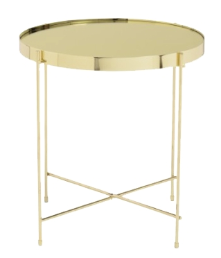 Mirrored Side Table - Gold