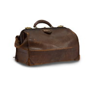 Small Leather Luggage Bag
