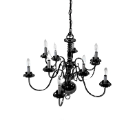 Black Chandelier (10-Candle)