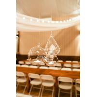 Hanging glass tealight terrariu centerpieces