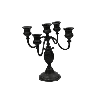 Black Candelabra (5-Candle, Medium)
