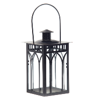 Black Manor Lantern (Tall Square)