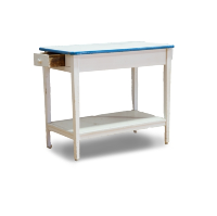 White Enamel Top Table