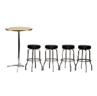 Pub Table with 4 Bar Stools