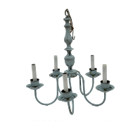 Slate Blue Chandelier (5-Light)