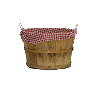 Small Bushel Basket with Fabric Liner
