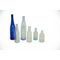 Blue & Clear Vases (Assorted Dozen)