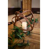 Wooden Sphere Centerpiece LG