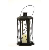Black Manor Lantern (Tall Hexagon)